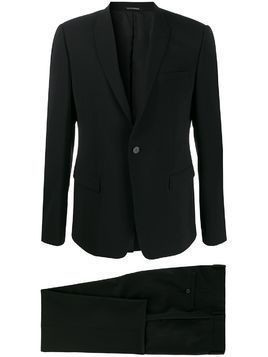 Emporio Armani single-breasted two-piece formal suit - Black