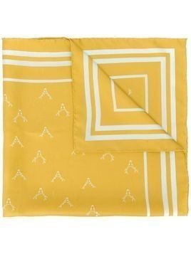 Holland & Holland reindeer-print silk scarf - Yellow