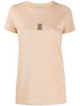 Frankie Morello embroidered scarab T-shirt - NEUTRALS