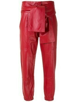 Andrea Bogosian leather Saijo cropped trousers - Red