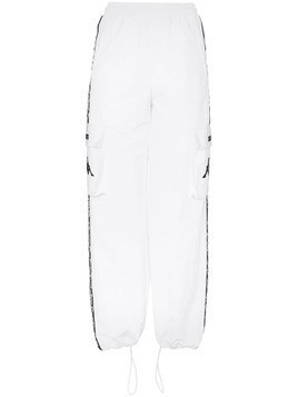 Charm's x Kappa flame-stripe utility pocket track pants - White