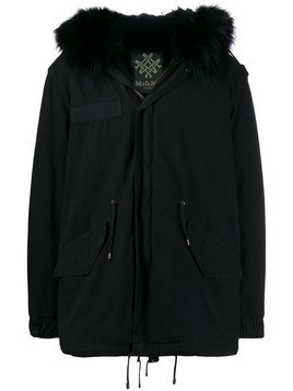 Mr & Mrs Italy zipped parka coat - Black