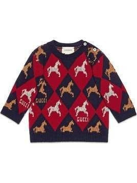 Gucci Kids embroidered geometric sweater