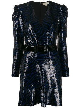 Michael Michael Kors zebra sequin mini dress - Black