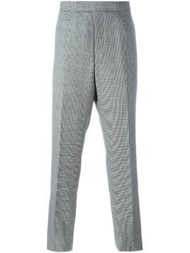 Thom Browne houndstooth tailored trousers - Black