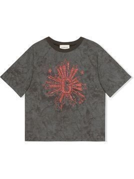 Gucci Kids Children's G stars print T-shirt - Grey