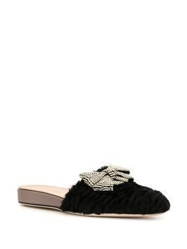 Giambattista Valli embellished slip-on mules - Black