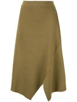 Des Prés asymmetric ribbed skirt - Green