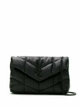 Saint Laurent Loulou puffer crossbody bag - Black