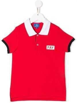 Fay Kids colour-block polo shirt - Red
