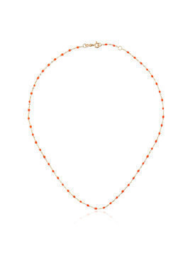 Gigi Clozeau 18k yellow gold orange beaded necklace