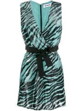 Brognano sleeveless tiger print dress - Blue