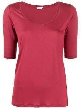 Filippa-K Tencel scoop-neck T-shirt - PINK
