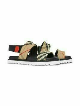 Burberry Kids Vintage Check sandals - Brown