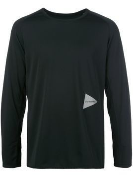 and Wander logo print long-sleeved T-shirt - Black