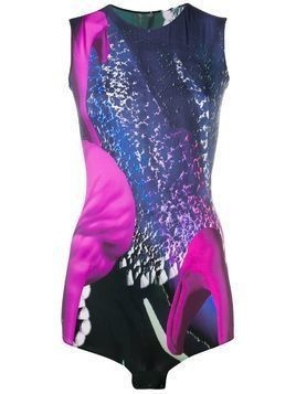 Maison Margiela space print bodysuit - Purple