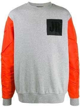 John Richmond Guyton two-tone sweatshirt - Grey