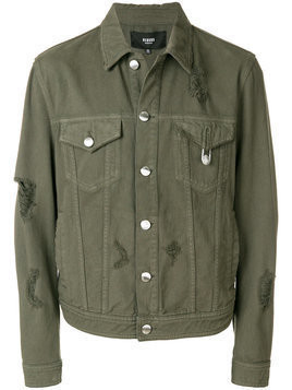Versus - distressed denim jacket - Herren - Cotton/Polyester - 52 - Green