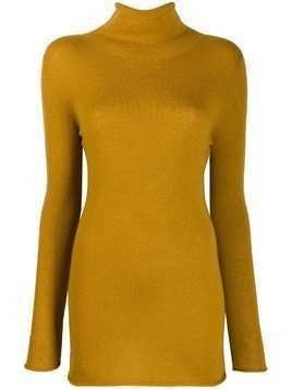 Agnona rollneck cashmere sweater - Yellow