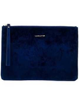 Lancaster velvet clutch bag - Blue