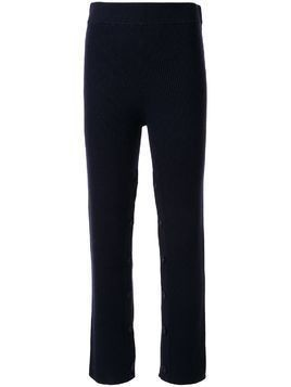 Christopher Esber high-rise knitted trousers - Blue