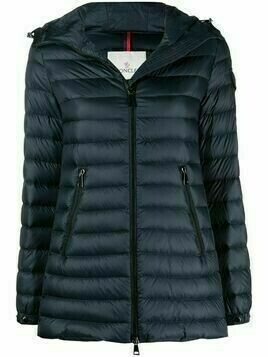 Moncler hooded puffer jacket - Blue