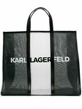 Karl Lagerfeld K/Printed large tote bag - Black