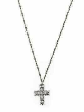 Emanuele Bicocchi cross pendant necklace - Silver