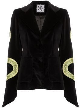 Rockins snake-embroidered blazer - Black