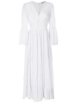 Martha Medeiros cotton empire-line evening dress - White