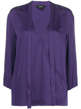 Theory VIP v-neck bouse - Pink & Purple