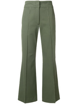 Joseph stretch flare trousers - Green
