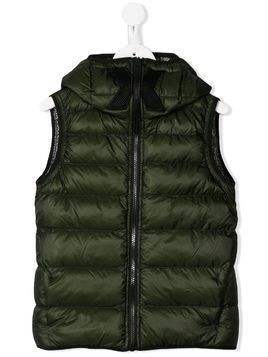AI Riders on the Storm puffer gilet - Green