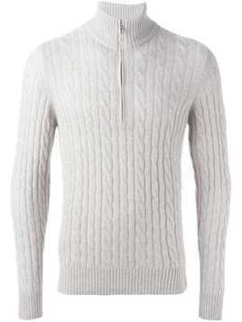 Loro Piana cable knit sweater - Neutrals