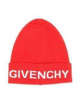 Givenchy Kids logo knit beanie - Red