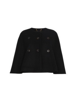 ChloéCashmere double breasted cape - Black
