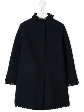 Il Gufo fringe trim coat - Blue