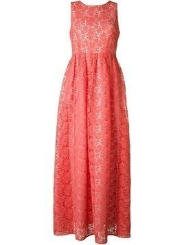 P.A.R.O.S.H. flower embellished long dress - Pink & Purple