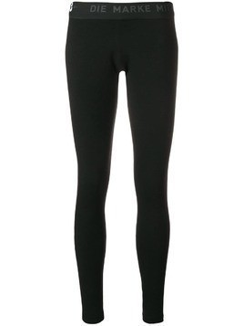Y-3 printed logo leggings - Black