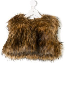 Dsquared2 Kids faux fur cropped gilet - Nude & Neutrals
