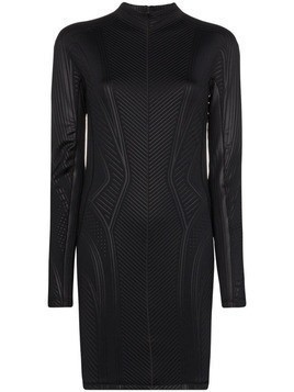 Mugler embossed fitted mini dress - Black