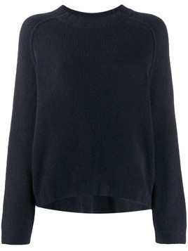 Kristensen Du Nord ribbed neck chunky knit sweater - Blue