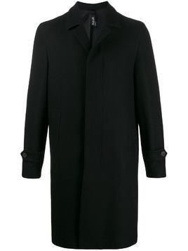 Hevo textured fitted single-breasted coat - Black