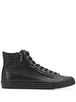 John Varvatos studded high top sneakers - Black