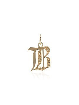 Foundrae B initial charm - Gold