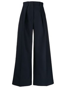 Jacquemus pleated details palazzo trousers - Blue