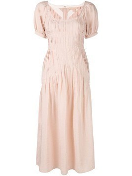 Brock Collection flared midi dress - Pink