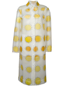 Christopher Kane allover printed sun waterproof coat - White