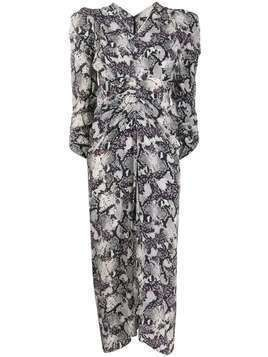 Isabel Marant snake-print midi dress - White