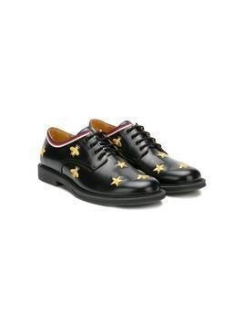 Gucci Kids embroidered bug shoes - Black